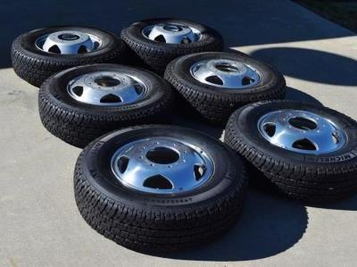 chevy 3500 alcoa dually wheels