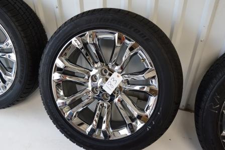 Chevy 22 inch oem chrome wheels dealer take offs 22 inch oem chevrolet wheels publicscrutiny Gallery