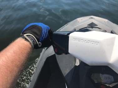 jet ski riding gloves while on jet ski