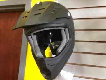 jet ski helmet on the wall