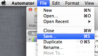 Save in Automator