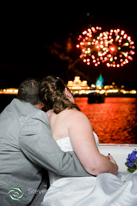 Disney Wedding Photographers Wishes Firework Weddings Orlando Steven Miller Photography