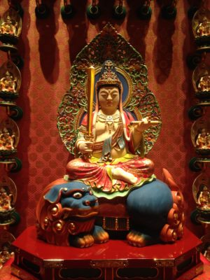 Manjushri at Buddha Tooth Relic Temple and Museum, Singapore