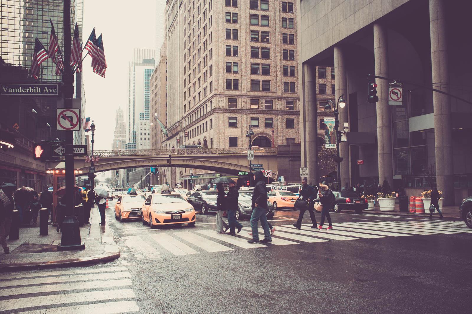 Zebra Crossing at 42nd Street & Vanderbilt Avenue