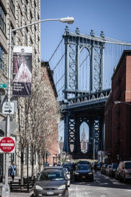 Manhattan Bridge from Front Street, Brooklyn, New York 1