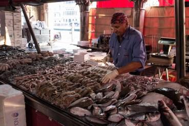 Fishmonger, Venice Fish Market