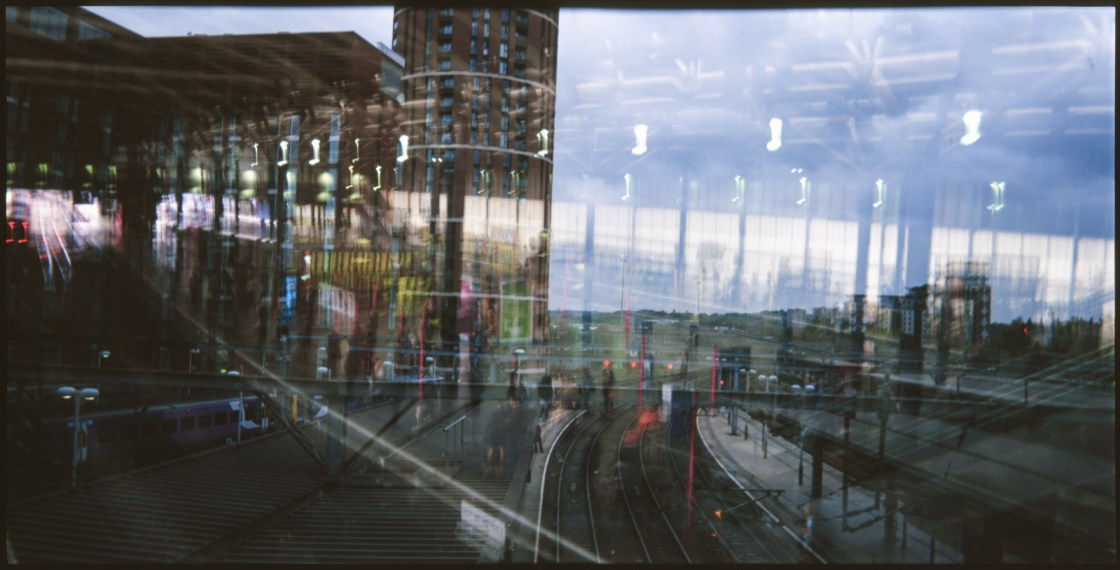 Double Exposure Leeds Railway Station