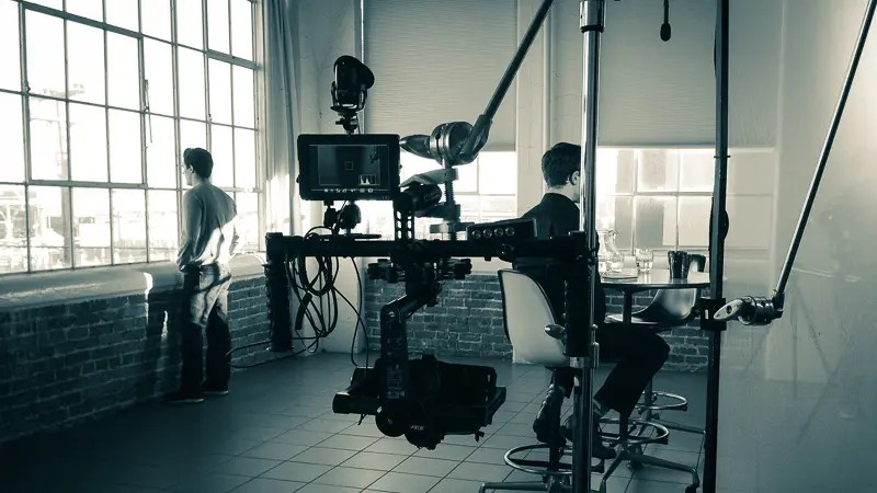 behind the scenes photo of film production