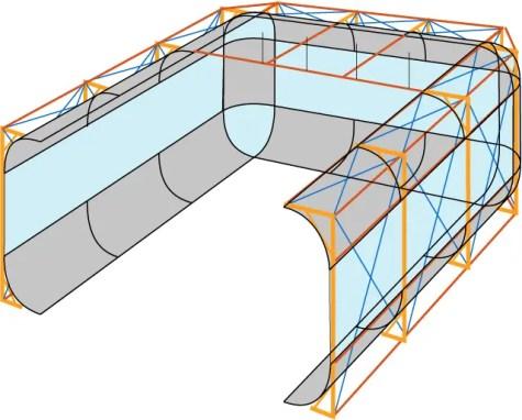 studio cyc wall fiberglass radius illustration
