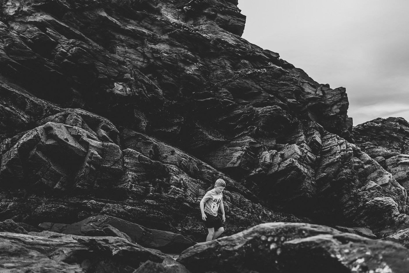 ben on the rocks