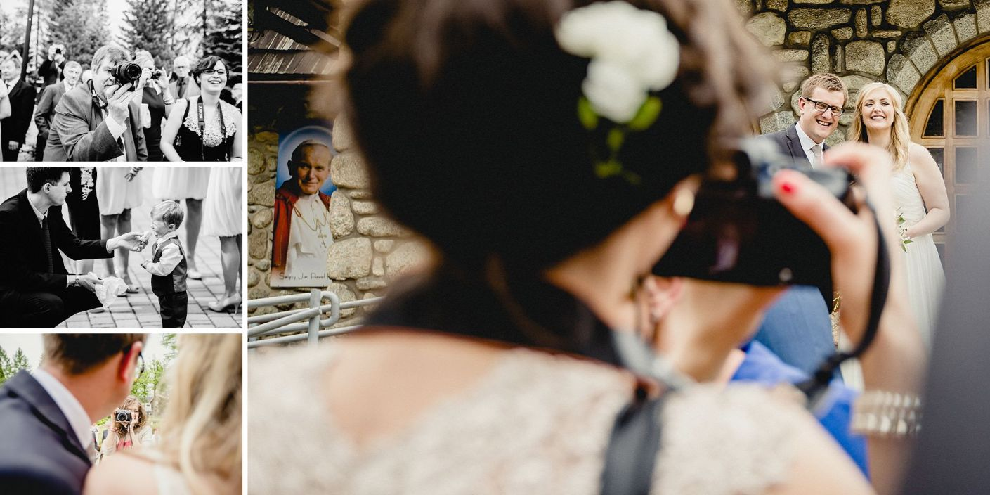 photo of a photo at the wedding