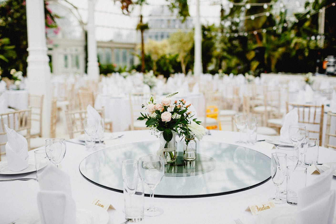 tables for the weding breakfast