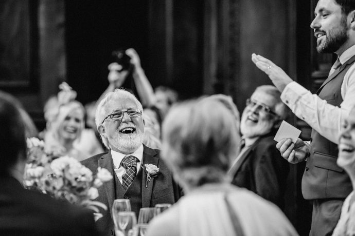 laughter at the wedding