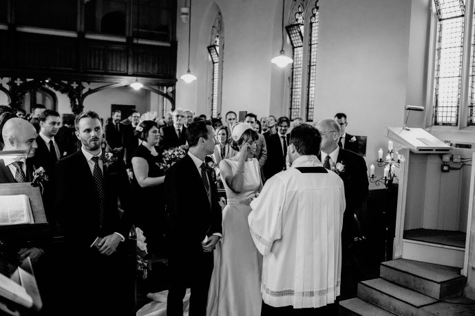 emotional scene during the nuptials