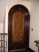 Arched Door with Lattice