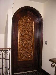 Arched Door with Lattice
