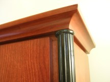 Close up on the fluted columns