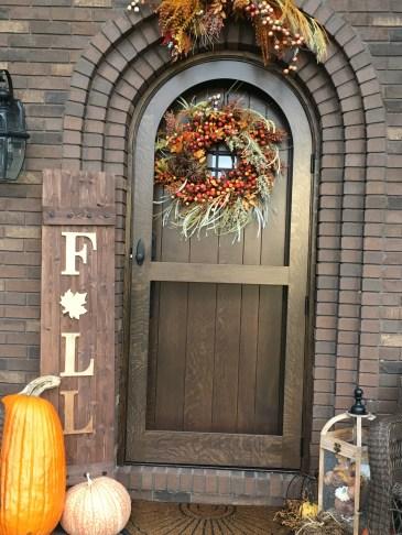 Custom Arched Entry Front door and Storm door