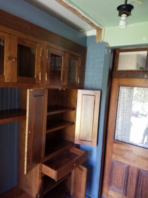 Cherry Mudroom Cabinets