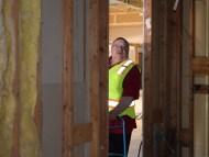 DAC Executive Director, Charlie Oakes, checks out progress