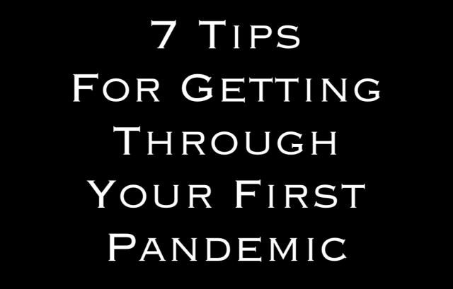 7 Tips For Getting Through Your First Pandemic Word By Steven Shomler