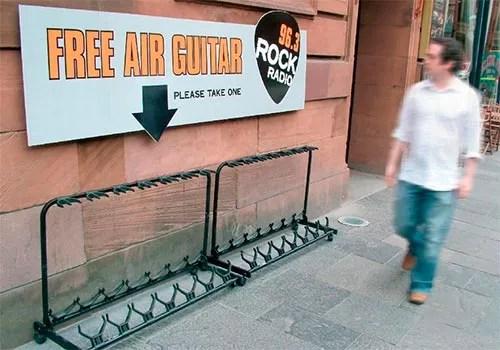Rock Radio Free Air Guitar Ad