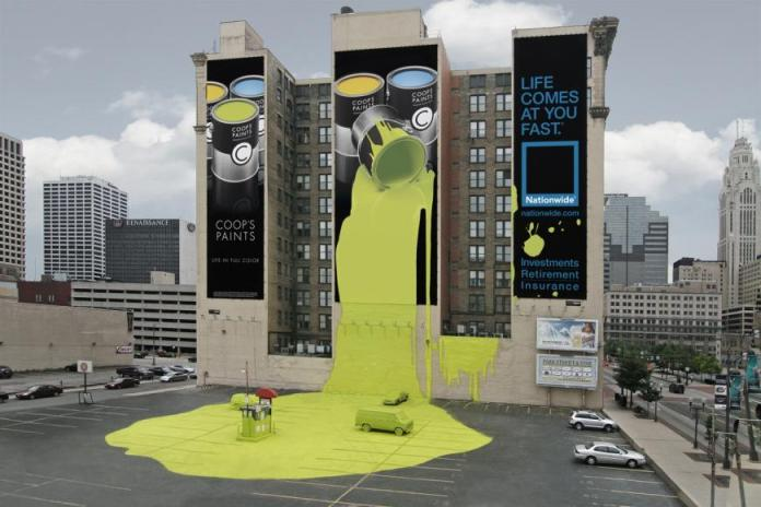 Nationwide Spilled Paint Ad