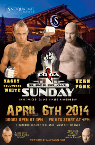 Vern Fonk poster for MMA match