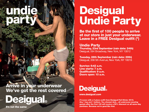 Desigual Undie Party Ad