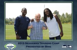 Rob Thielke aka Vern Fonk with Seahawks