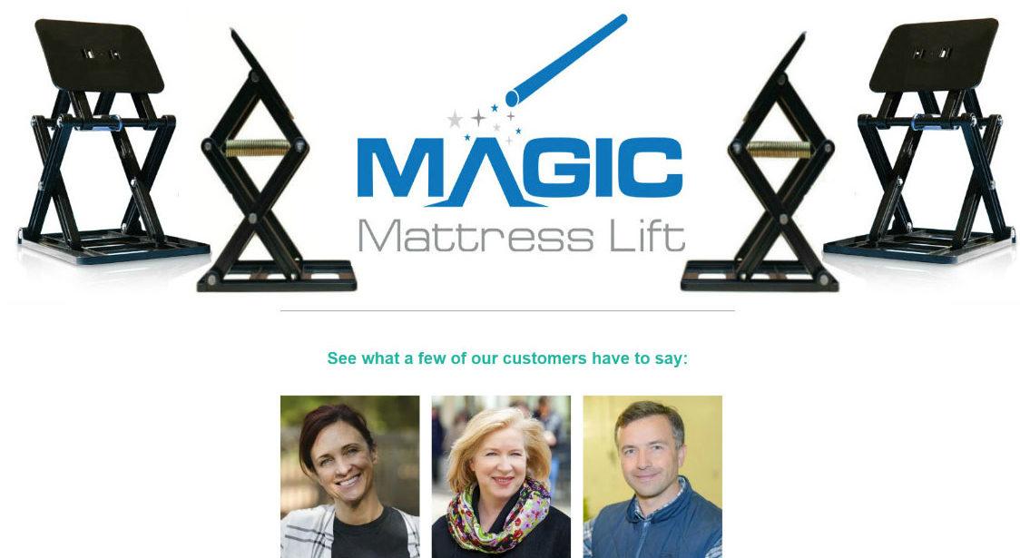 Website design Magic Mattress Lift