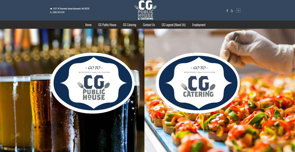 CG Public House & Catering | Website Build & Design