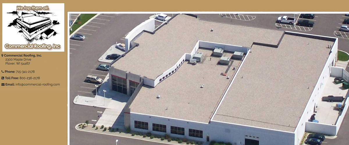 Commercial Roofing in Plover, WI