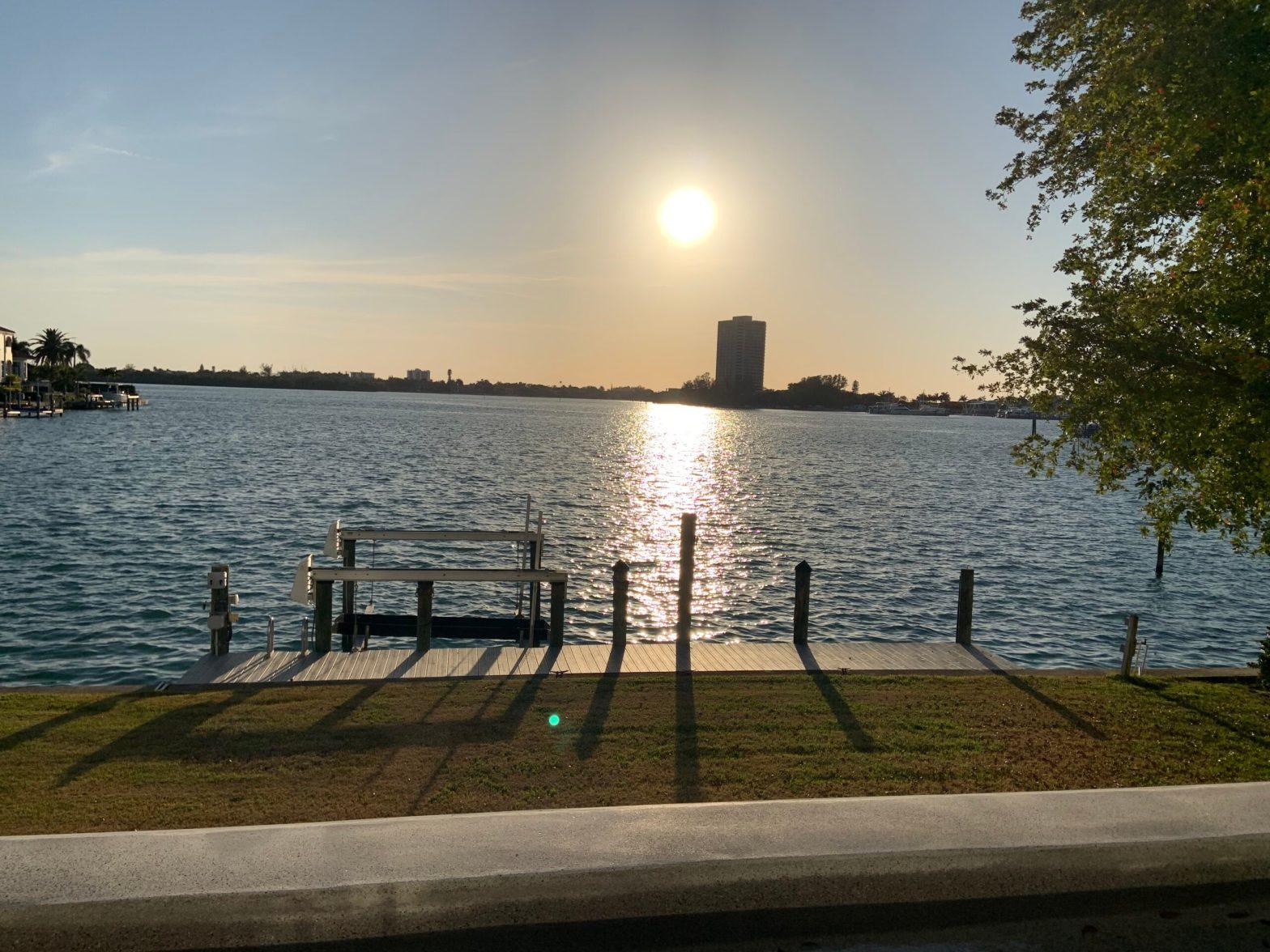 Sunset over Sarasota Bay from Bird Key