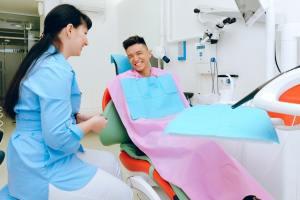 dental chair cheerful
