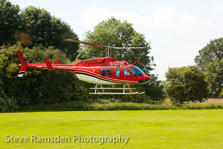 Helicopter lands on Aldwark golf course