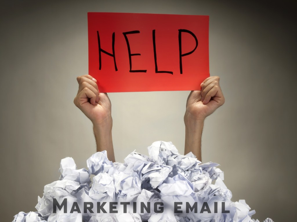 Someone buried under marketing email