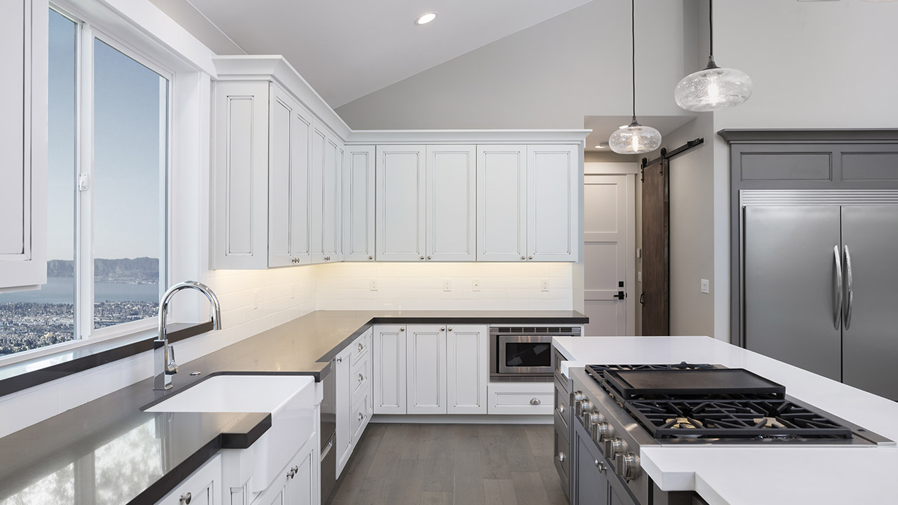 should you stain or paint your kitchen cabinets for a on what color should i paint my kitchen id=58708