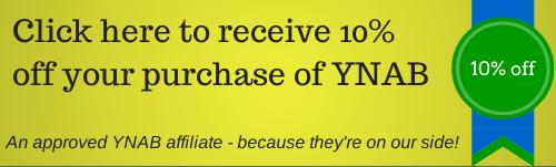 Save 10 percent off YNAB software