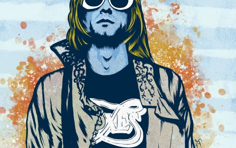 Kurt Cobain - digital illustration