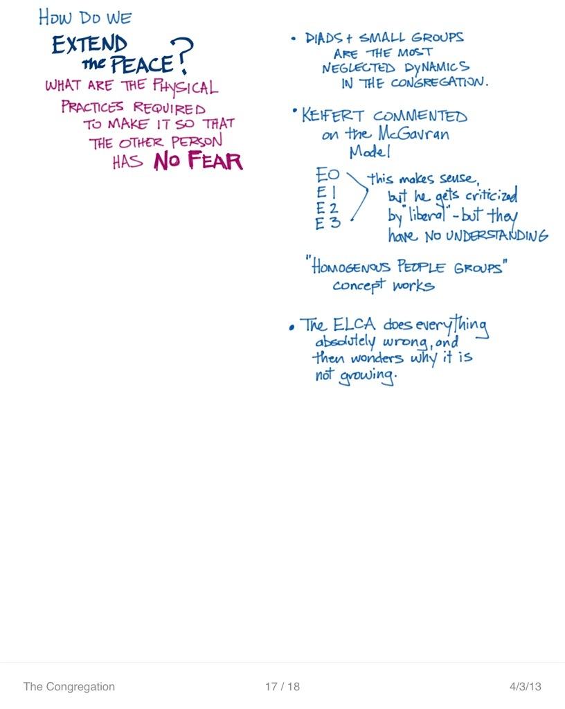 The Congregation | Class Notes | April 3 | Critical Social Theory