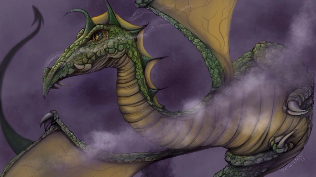 Dragon Illustration done in ProCreate on the iPad