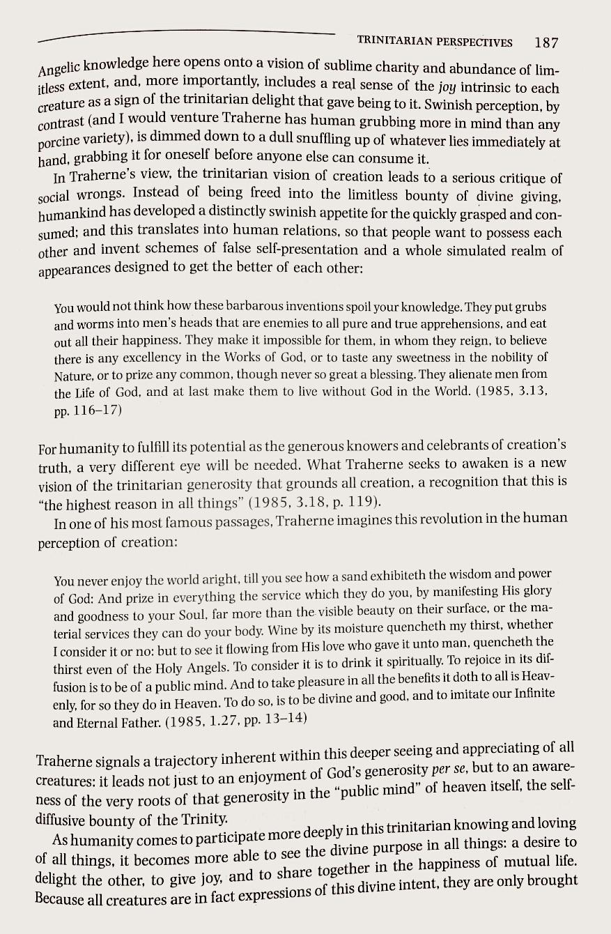 A Trinitarian Perspective 11