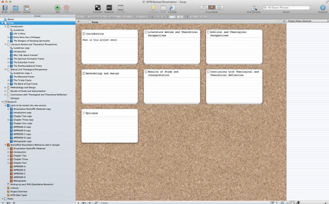 How Scrivener is Helping Me Rebuild My Dissertation