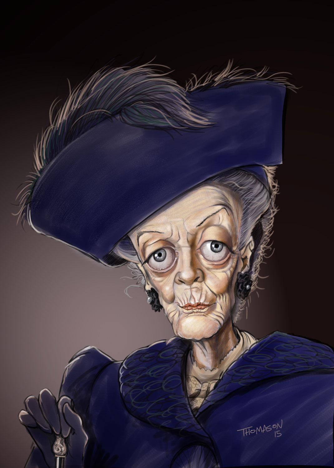 dowager countess downton abbey caricature