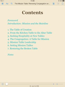 mission table TOC