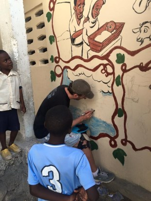 Haiti mural Tuesday 1