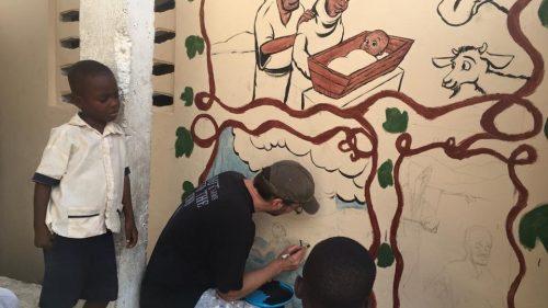 Haiti mural Tuesday 2