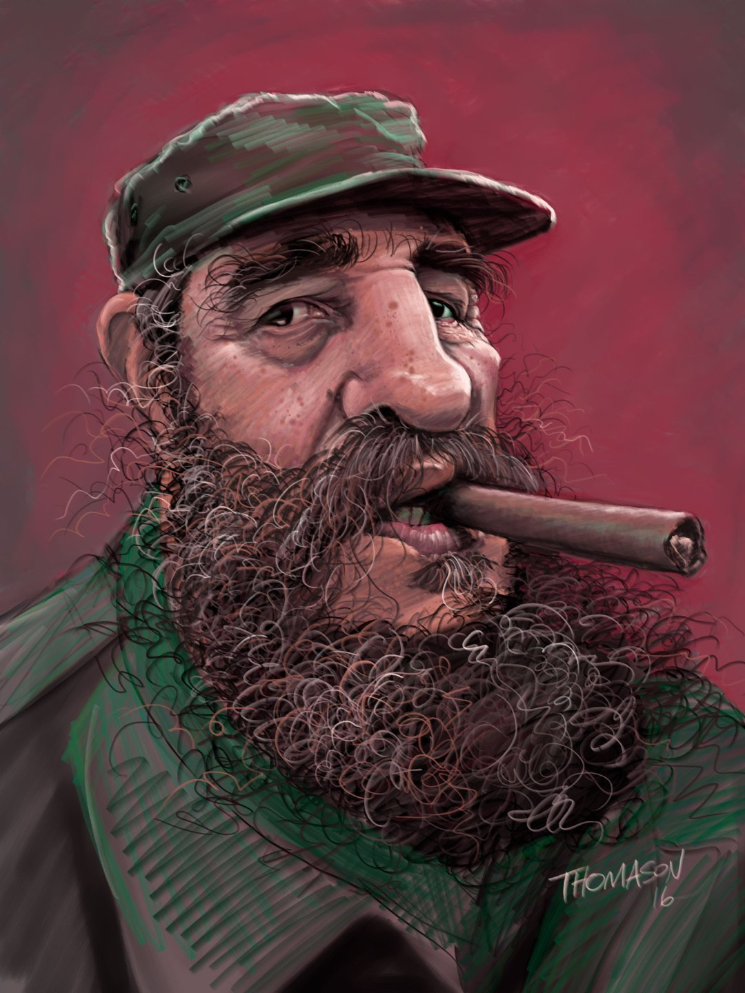 Caricature of Castro
