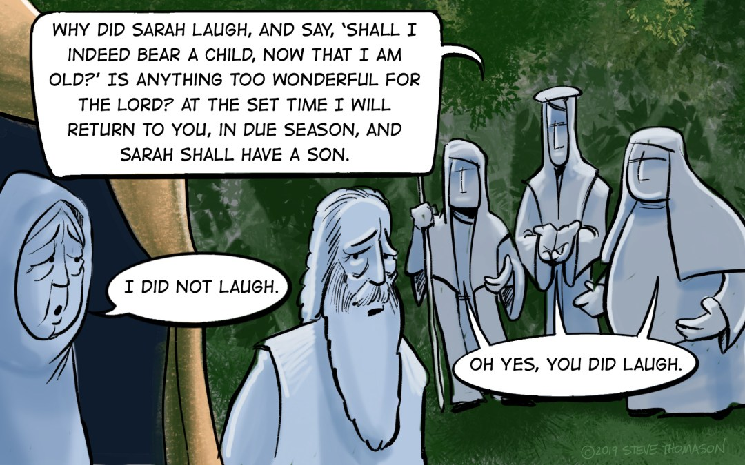 A Cartoonist's Guide to Abraham, Sarah, and Laughter